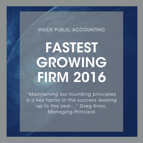 IPA Fastest Growing Firm 2016